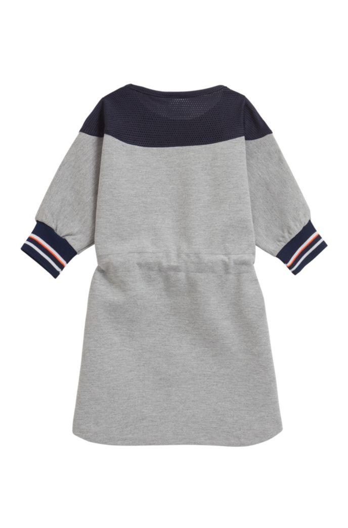 Kids-Kleid aus Stretch-Jersey mit Mesh-Passe