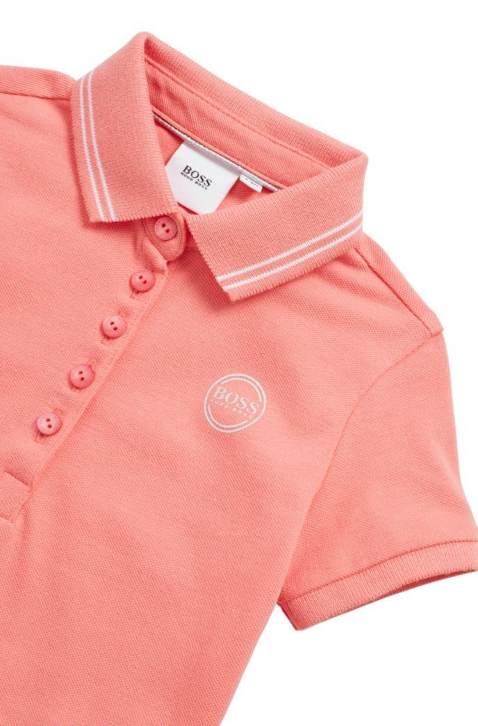 Robe polo pour enfant en piqué stretch avec logo irisé
