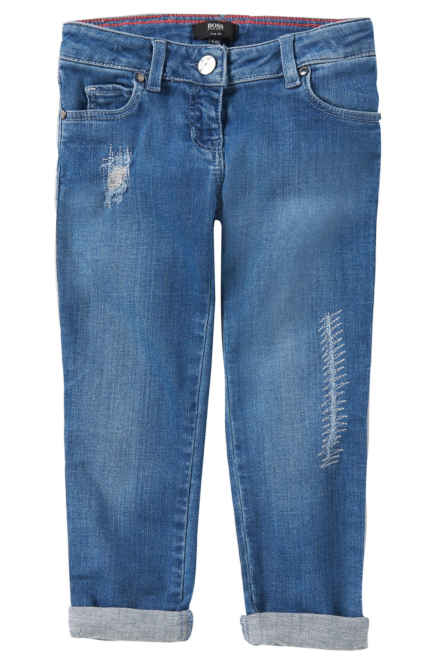 Slim-Fit Jeans aus Baumwoll-Mix: 'J14155'