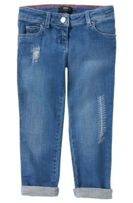 Slim-Fit Jeans aus Baumwoll-Mix: 'J14155', Blau