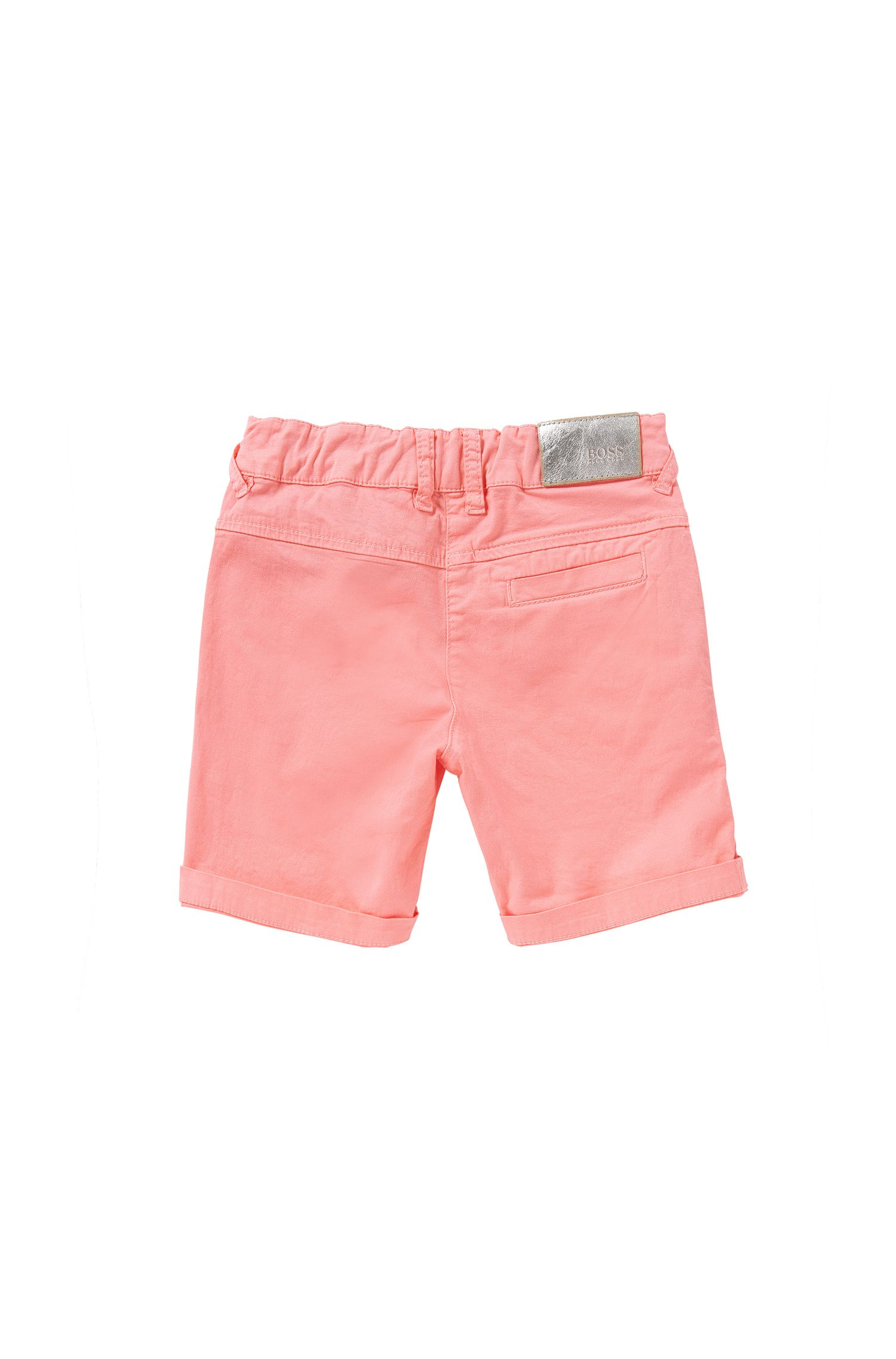 Regular-Fit Kids-Shorts aus Baumwolle mit Schleifen-Detail: 'J24410'