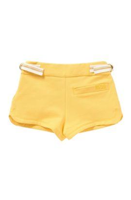Pantaloncini corti per bambini in cotone elasticizzato con fusciacca: 'J14173', Giallo