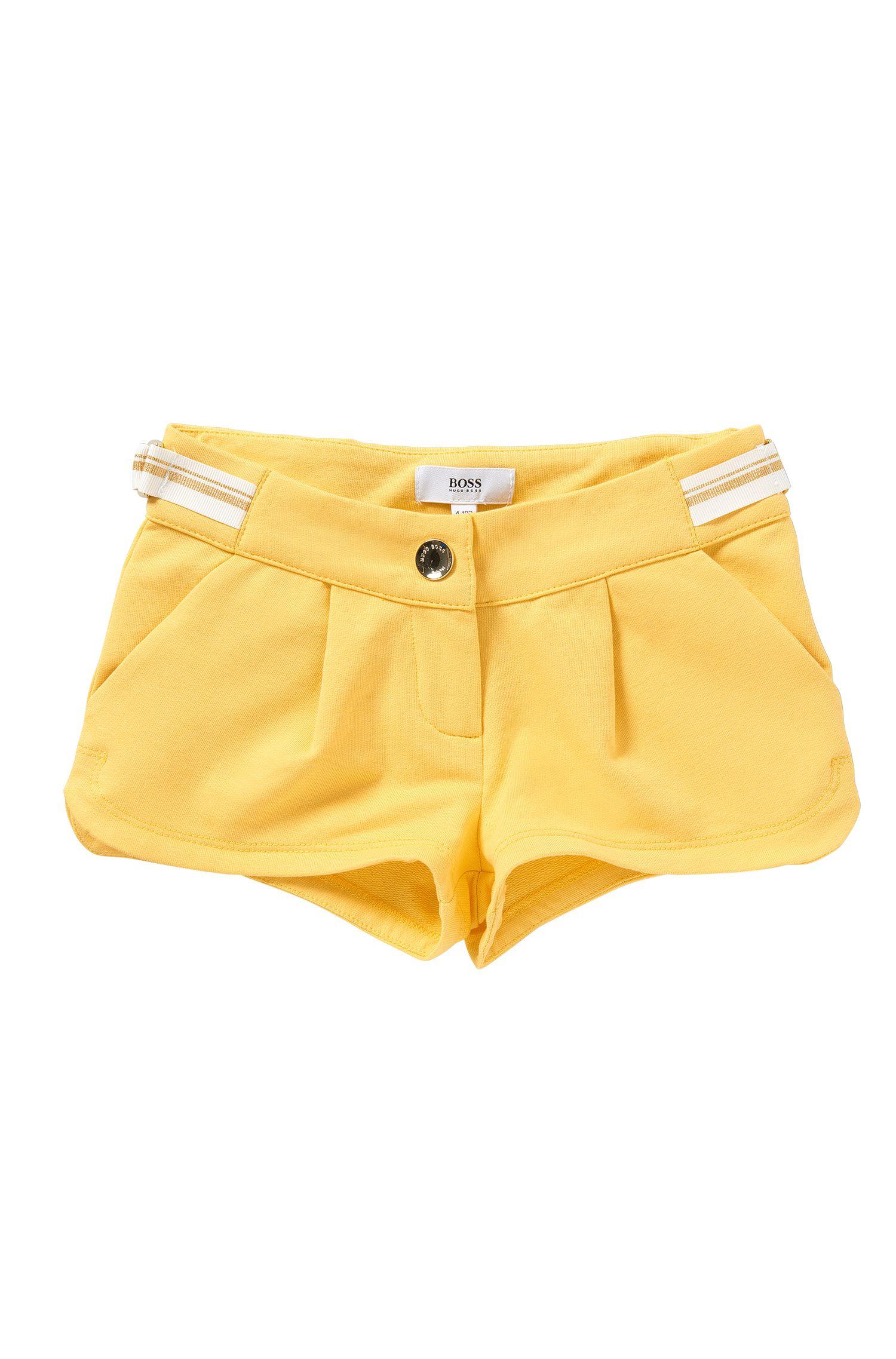 Short pour garçon en coton stretch doté d'un cordon à nouer: «J14173»