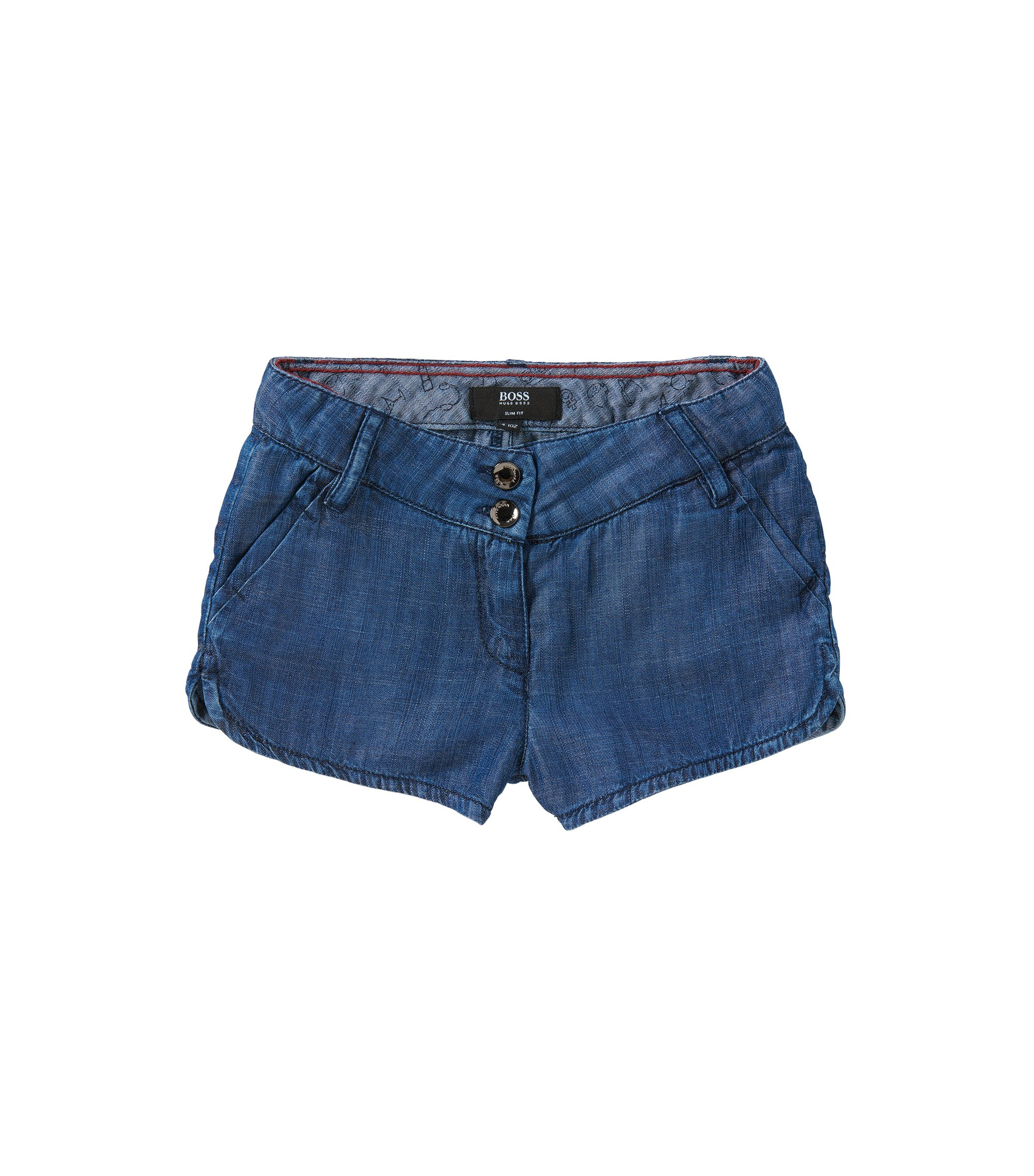 Slim-Fit Kids-Shorts in Denim-Optik: 'J14174', Blau