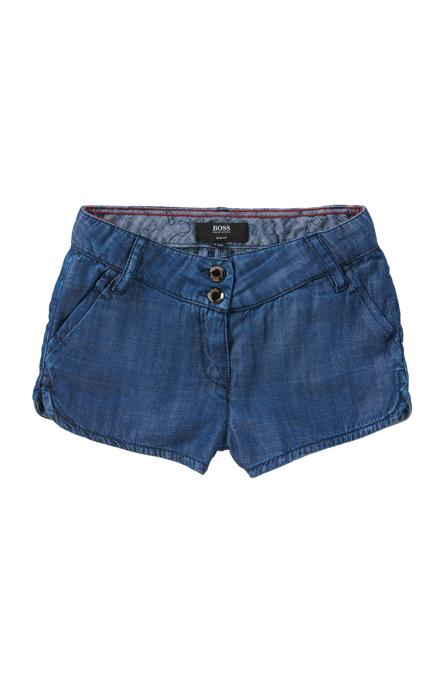 Slim fit kids' shorts in denim look: 'J14174'