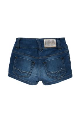 Slim-Fit Kids-Shorts aus Stretch-Baumwolle, Blau