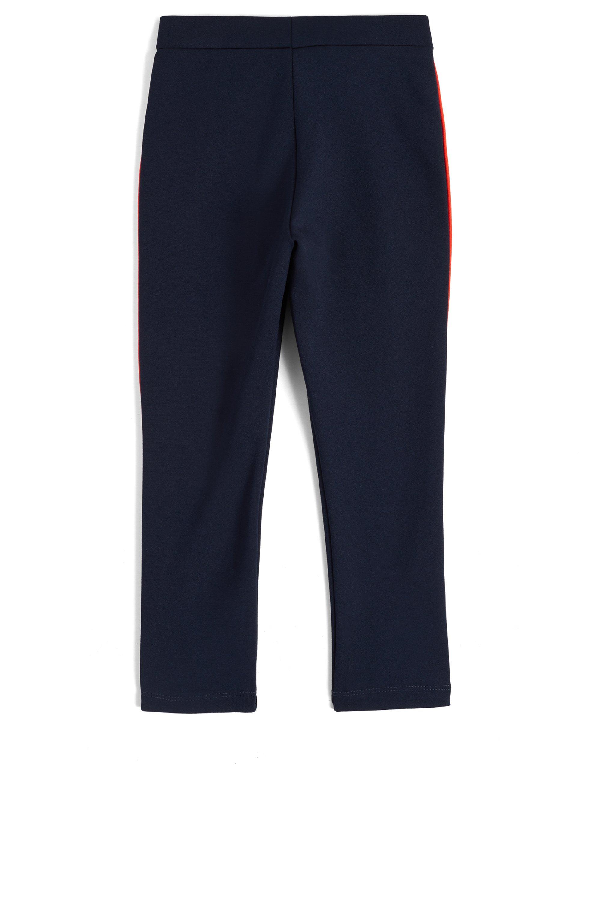 Kids-Leggings aus Stretch-Jersey mit kontrastfarbenen Seitenstreifen