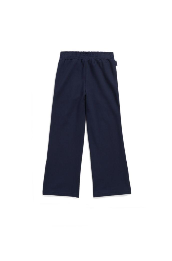Pantalon pour enfant en jersey Milano, avec bande latérale contrastante