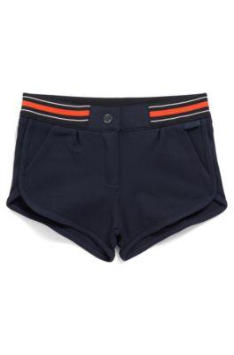 Kids-Shorts mit gestreiftem Bund, Dunkelblau