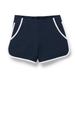 Kids-Shorts aus Stretch-Gewebe mit changierendem Logo-Detail, Dunkelblau