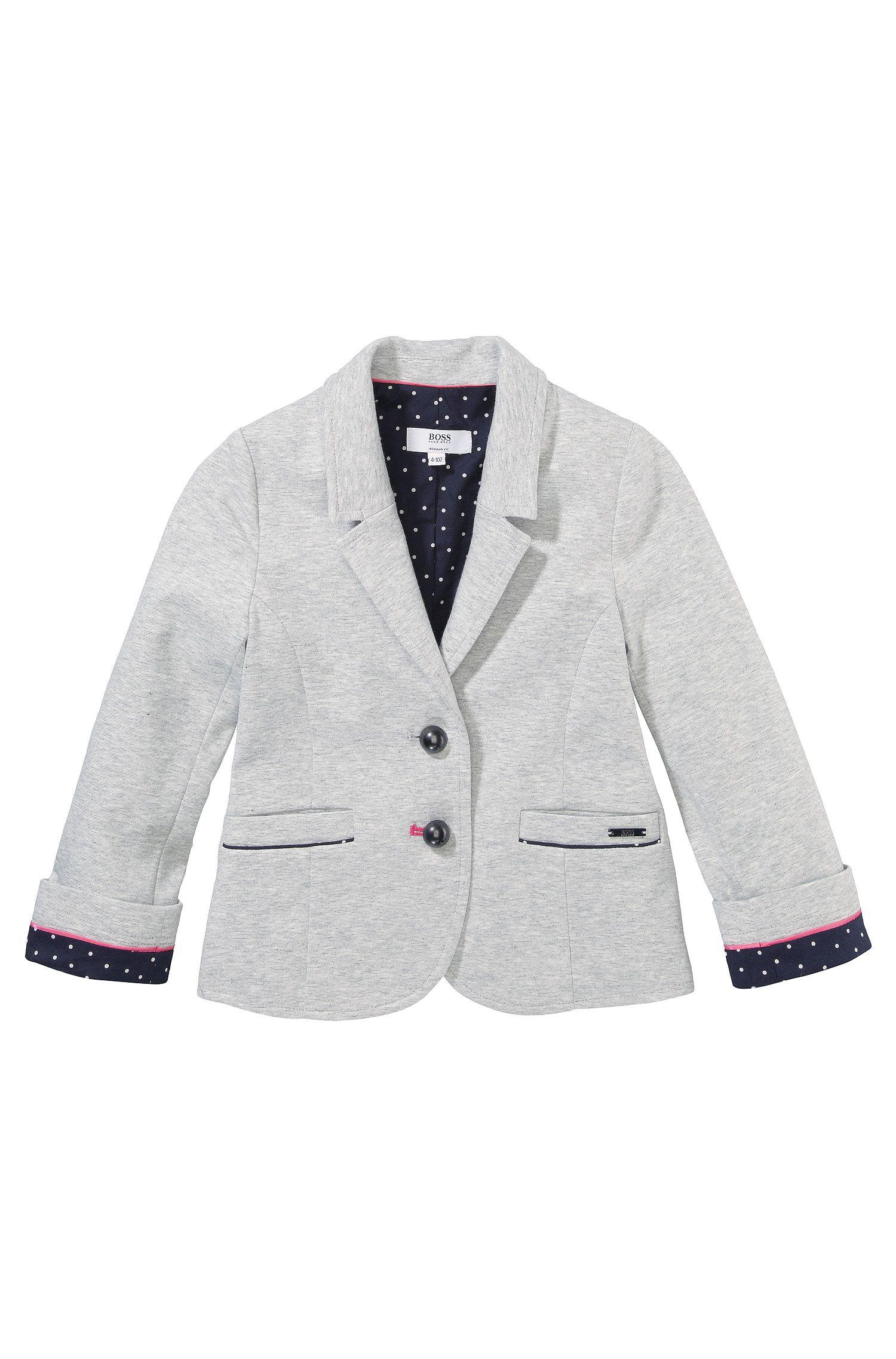Blazer pour enfant «J15285» en jersey de coton mélangé