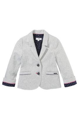 Blazer pour enfant «J15285» en jersey de coton mélangé, Gris chiné