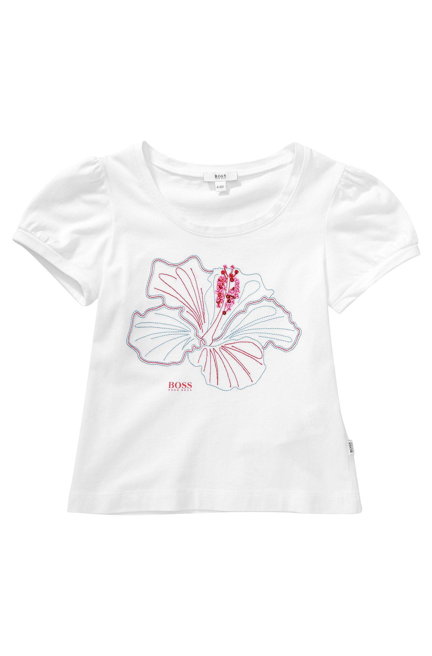 Kids-T-Shirt ´J15287` mit Pailletten-Besatz