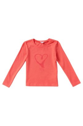 T-shirt à manches longues pour enfant en coton: «J15307», Rouge clair