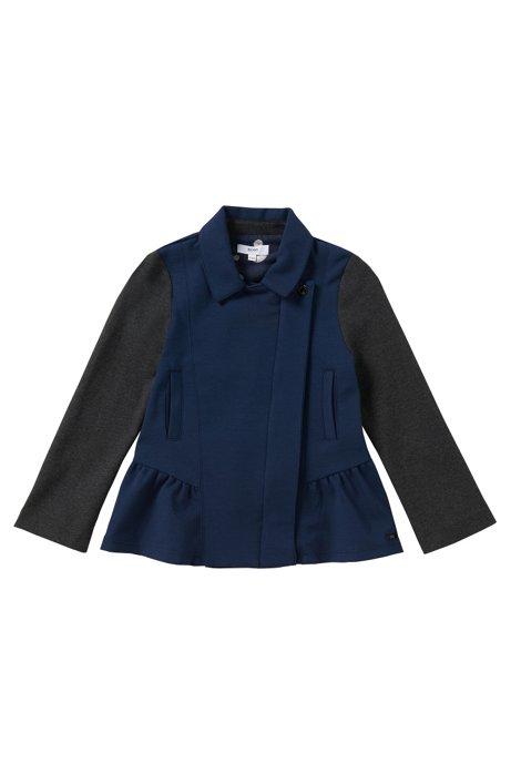 Sweatshirt jacket in cotton blend: 'J15314', Dark Blue