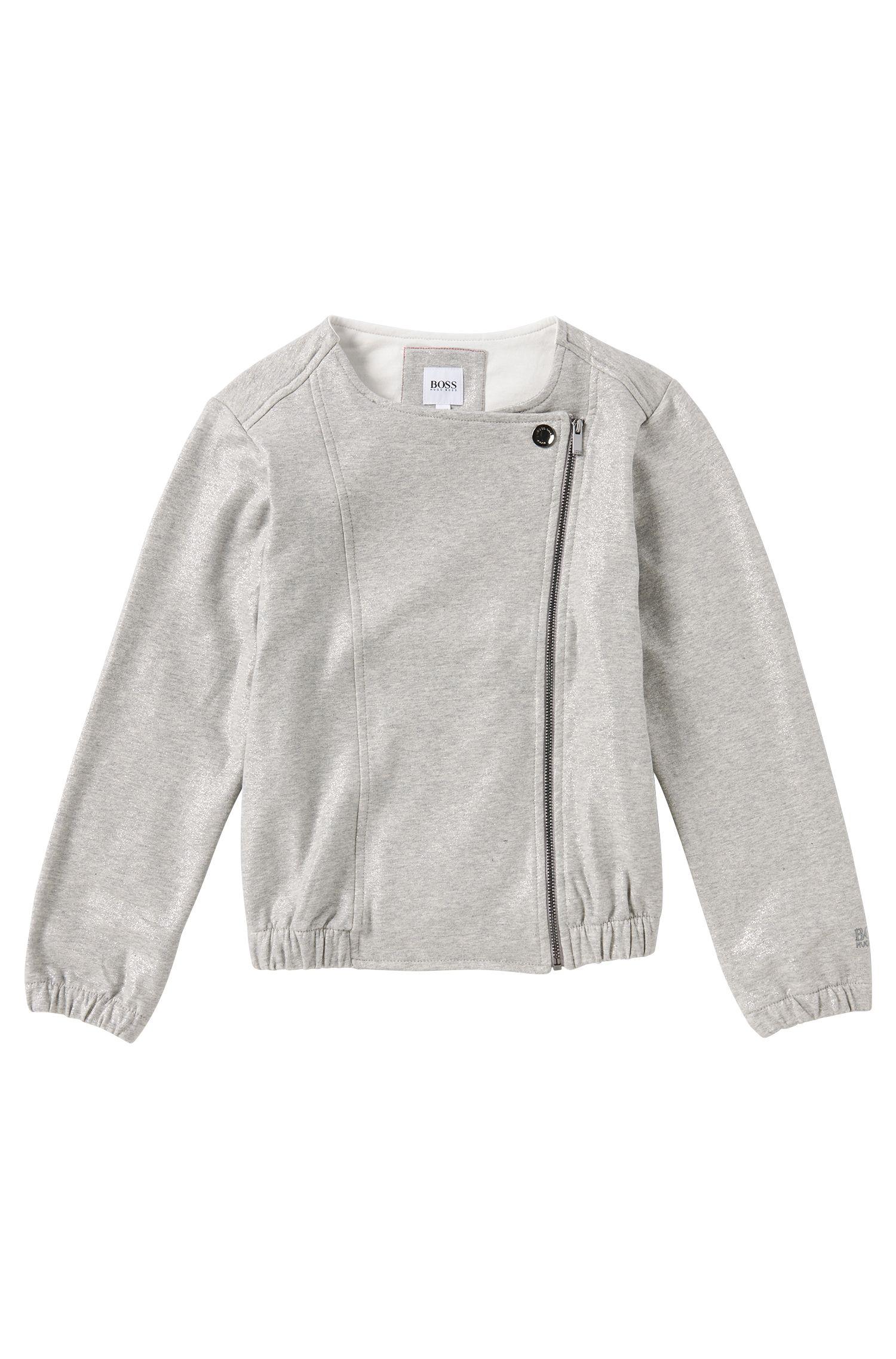 Kids Sweatshirt-Jacke aus Stretch-Baumwolle: 'J15320'