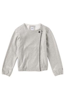 Kids Sweatshirt-Jacke aus Stretch-Baumwolle: 'J15320', Grau