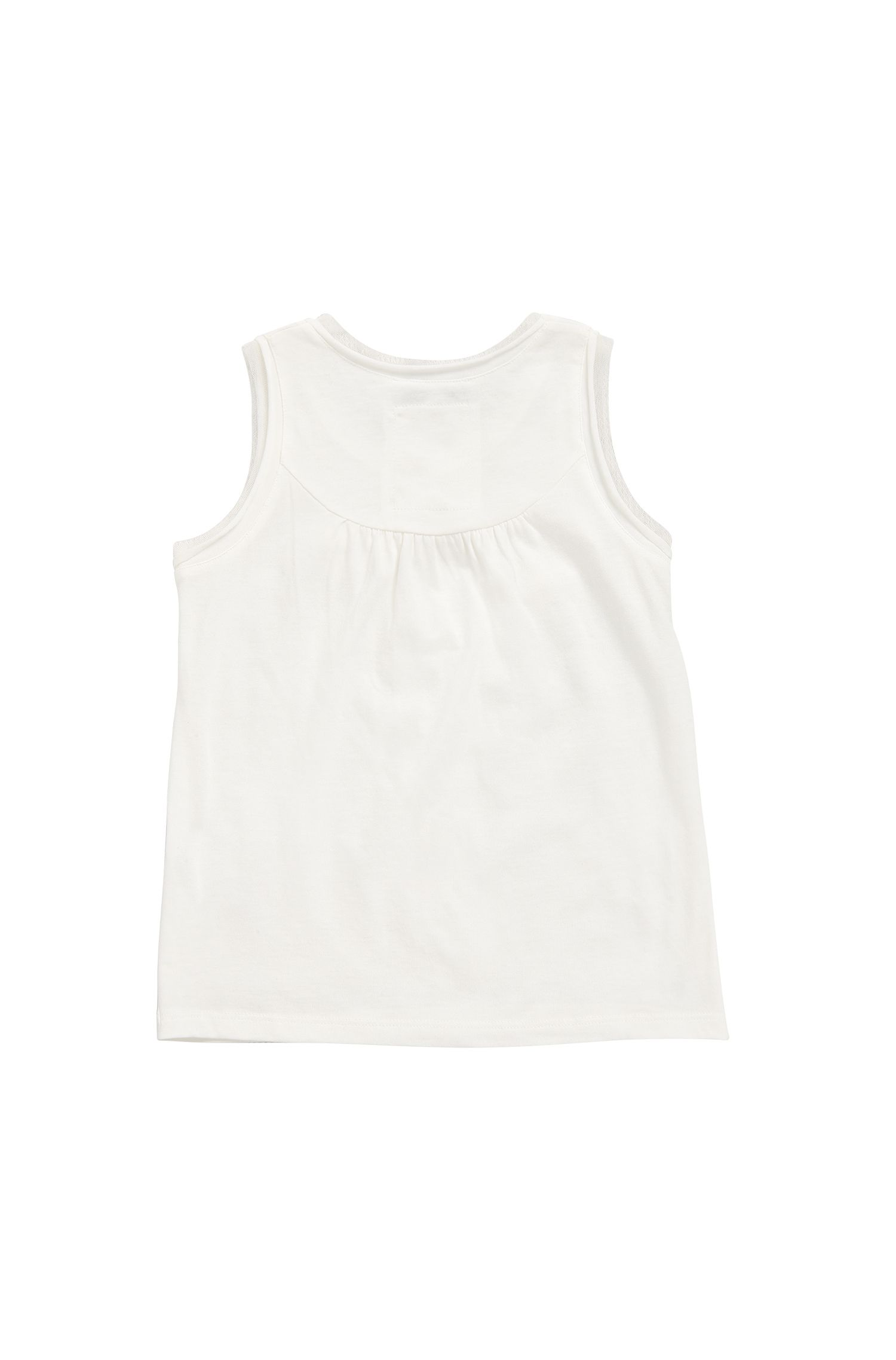 Kids' top in cotton-modal blend with palm-tree print: 'J15336'