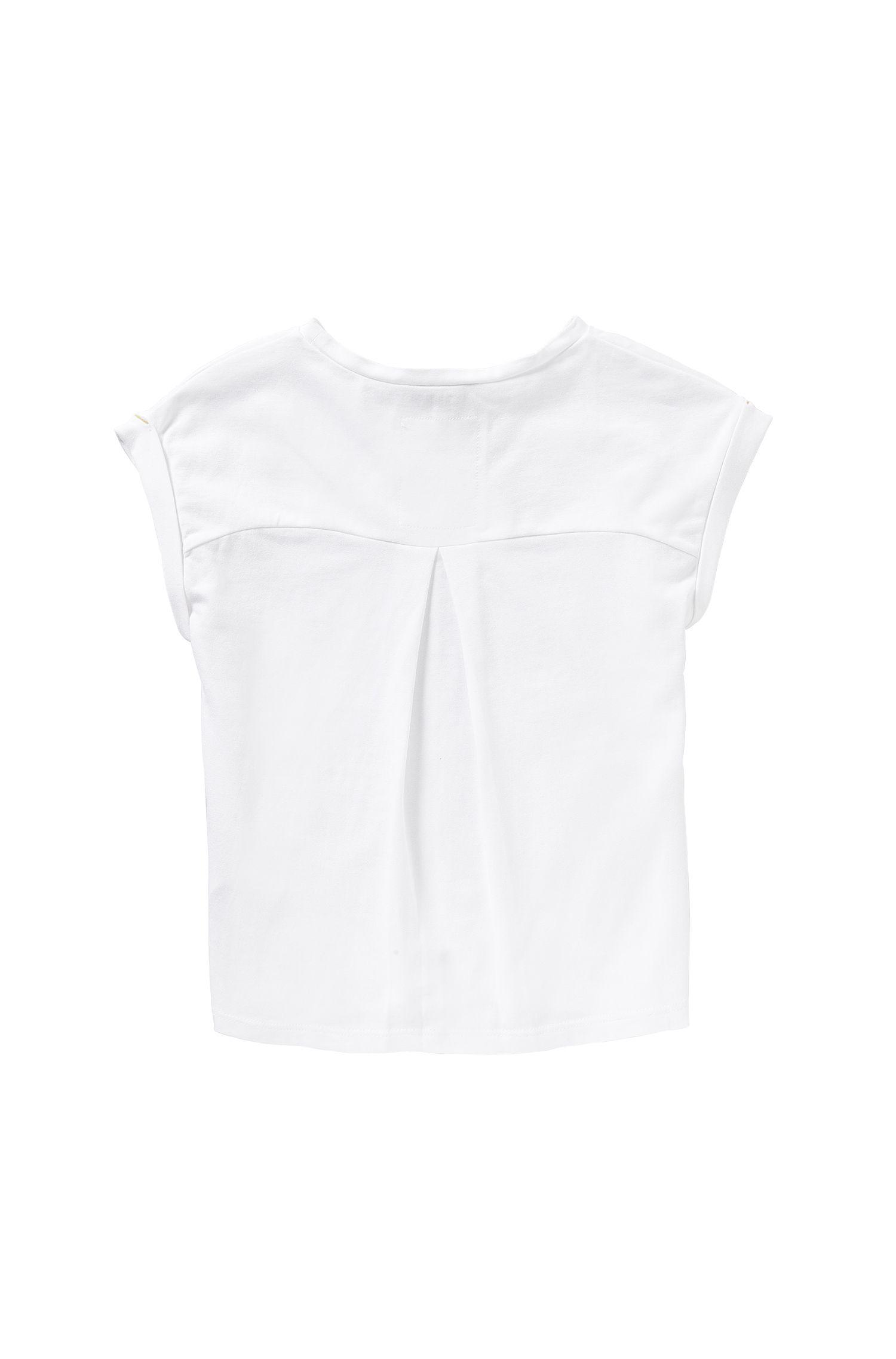 Kinder-T-shirt van stretchkatoen met frontprint: 'J15337'