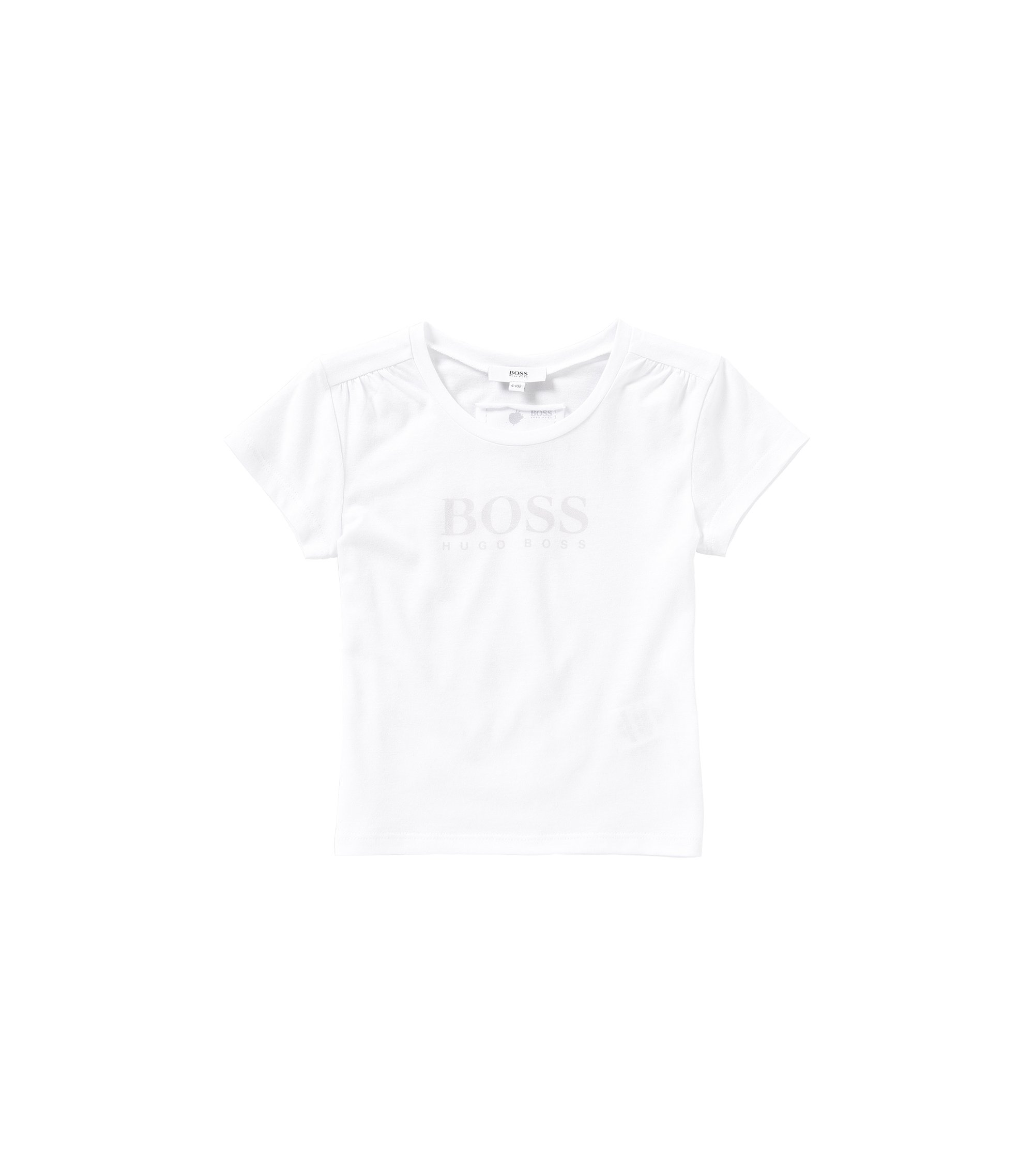 Printed kids' t-shirt in cotton blend: 'J15340', White
