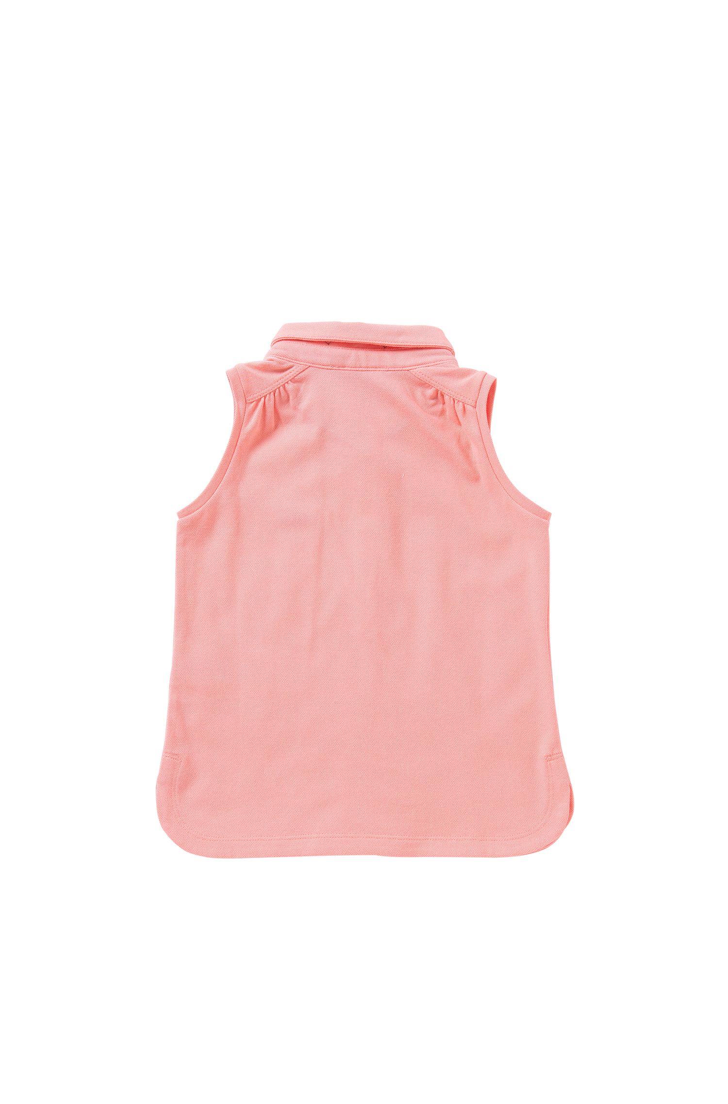 Mouwloos kinderpoloshirt van stretchkatoen: 'J15344'