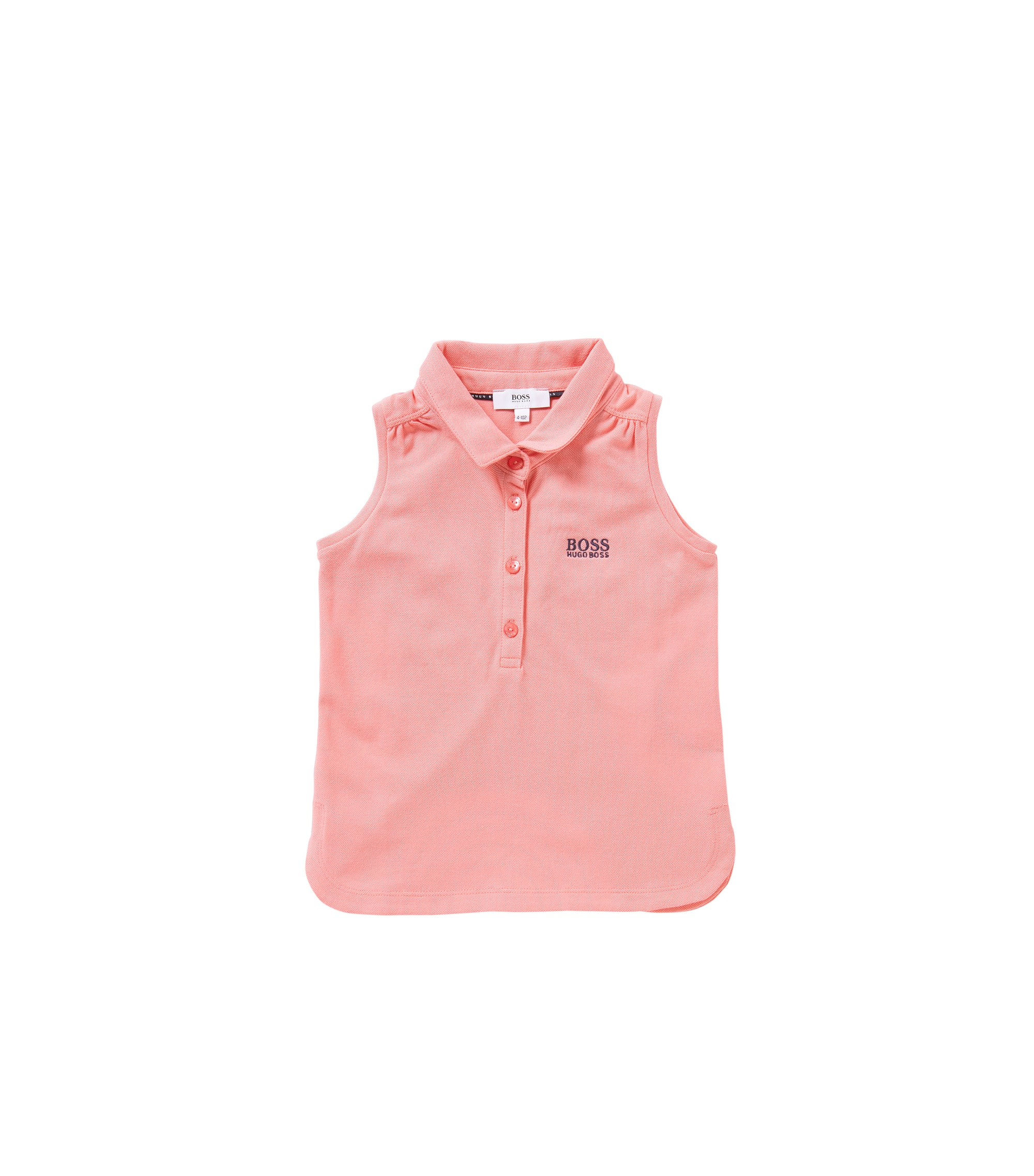 Sleeveless kids' polo shirt in stretch cotton: 'J15344', light pink