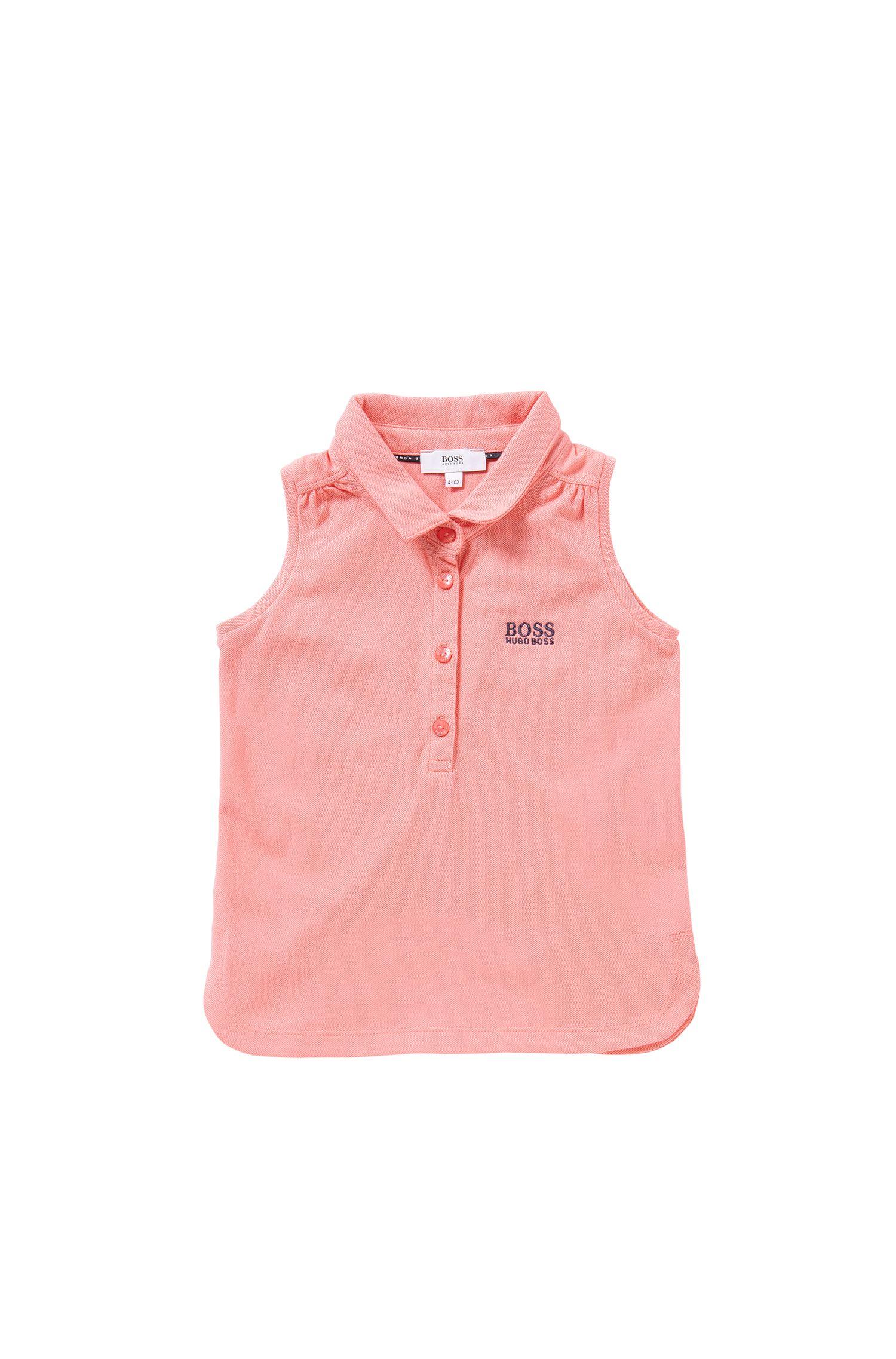 Polo sans manches pour enfant en coton extensible: «J15344»