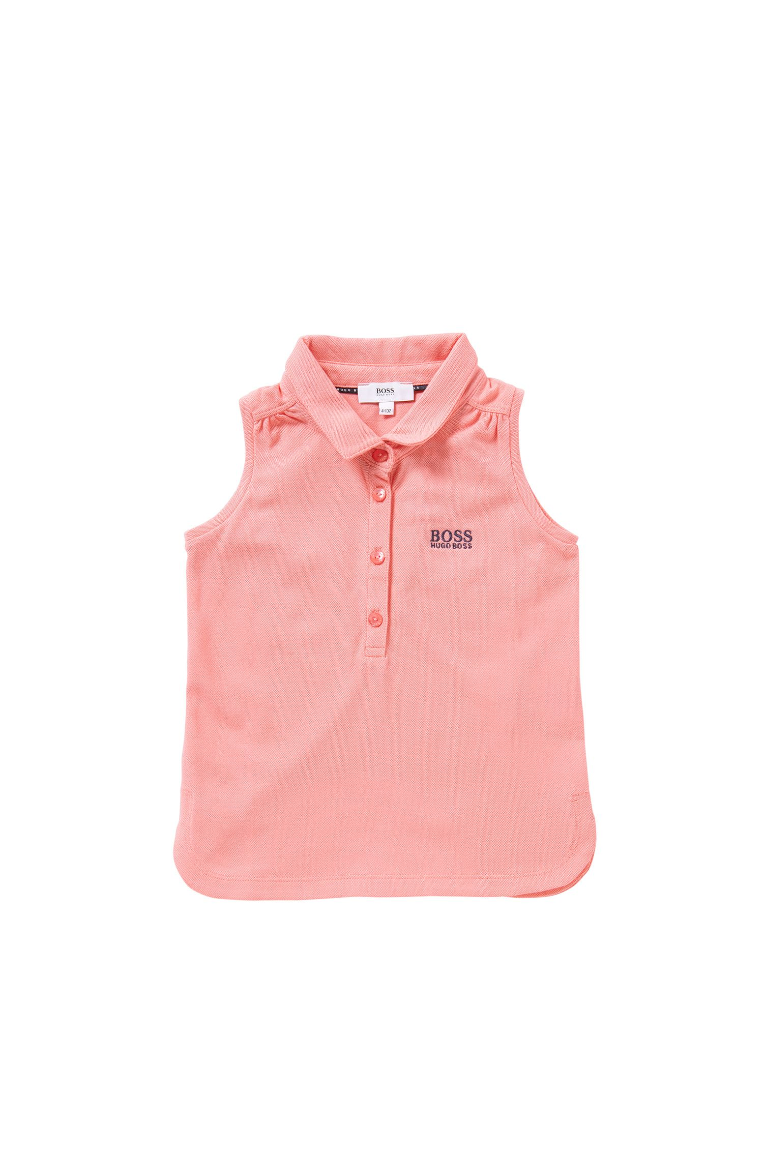 Sleeveless kids' polo shirt in stretch cotton: 'J15344'
