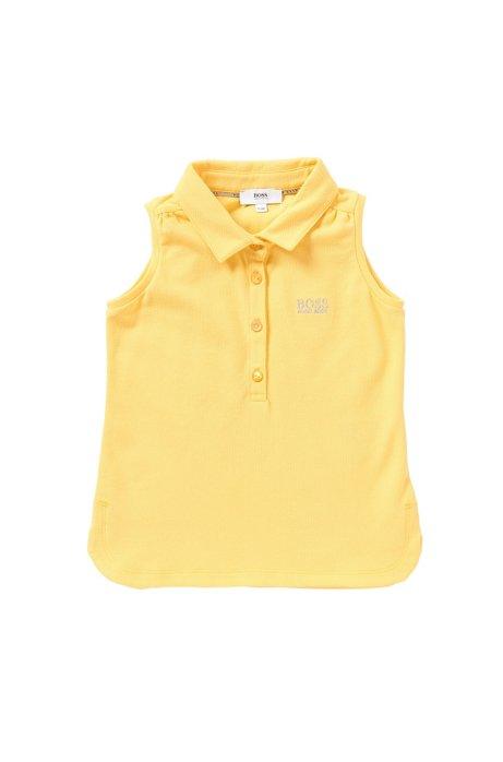 Ärmelloses Kids-Poloshirt aus Stretch-Baumwolle: 'J15344', Gelb