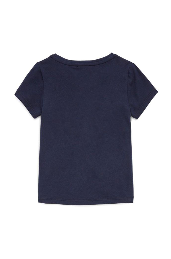 Kids-T-Shirt mit buntem Logo-Print