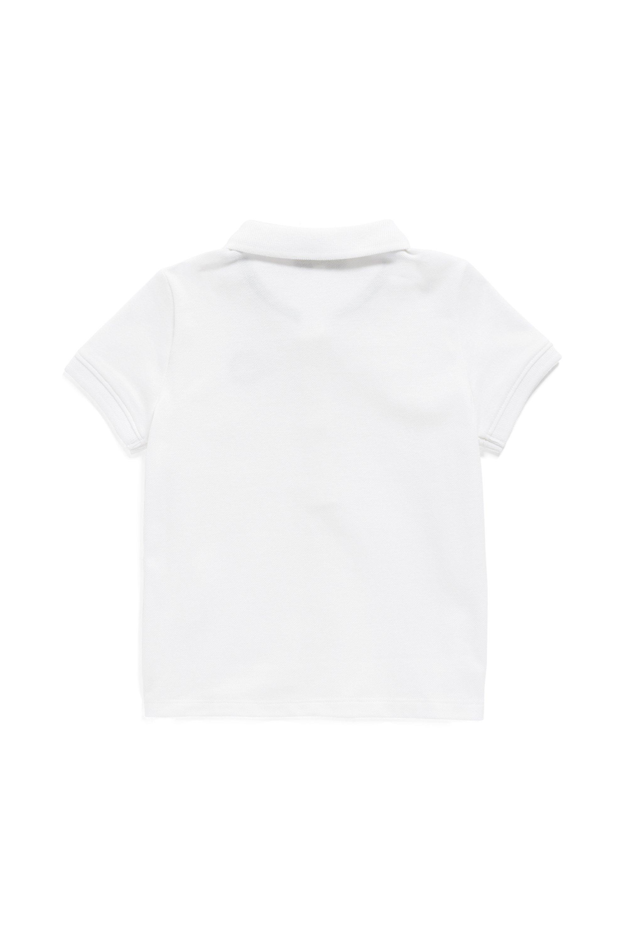 Polo pour enfant en piqué de coton stretch