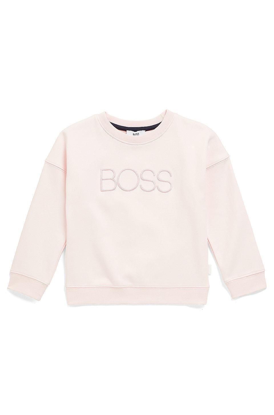 5b9117b30 BOSS - Kids' cotton-blend sweatshirt with logo embroidery