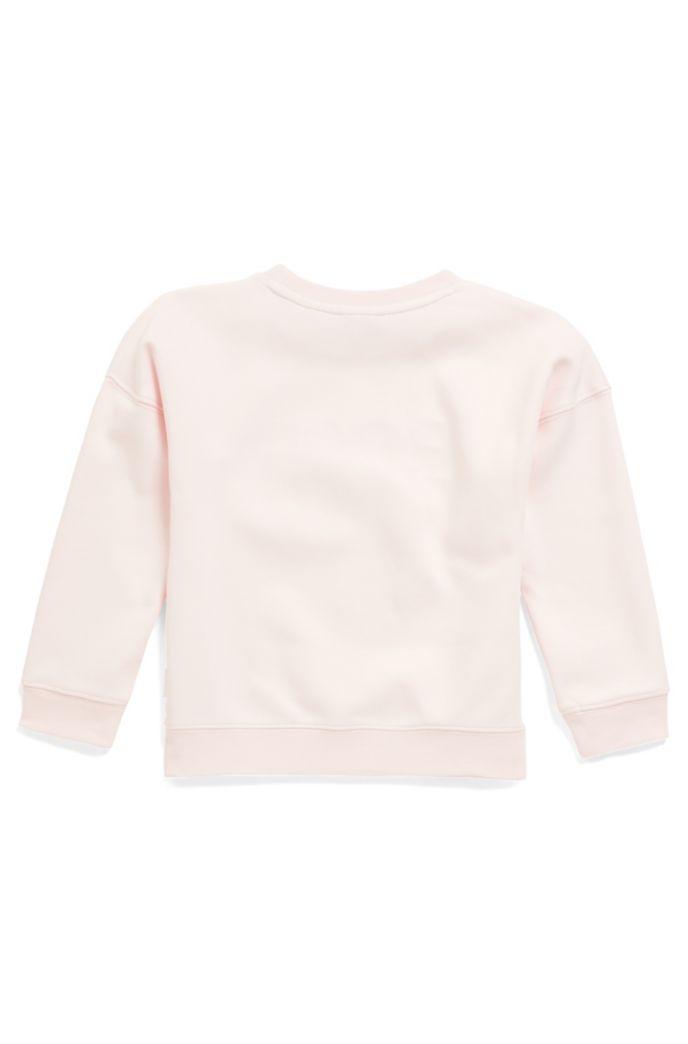 Sweat pour enfant en coton mélangé avec logo brodé