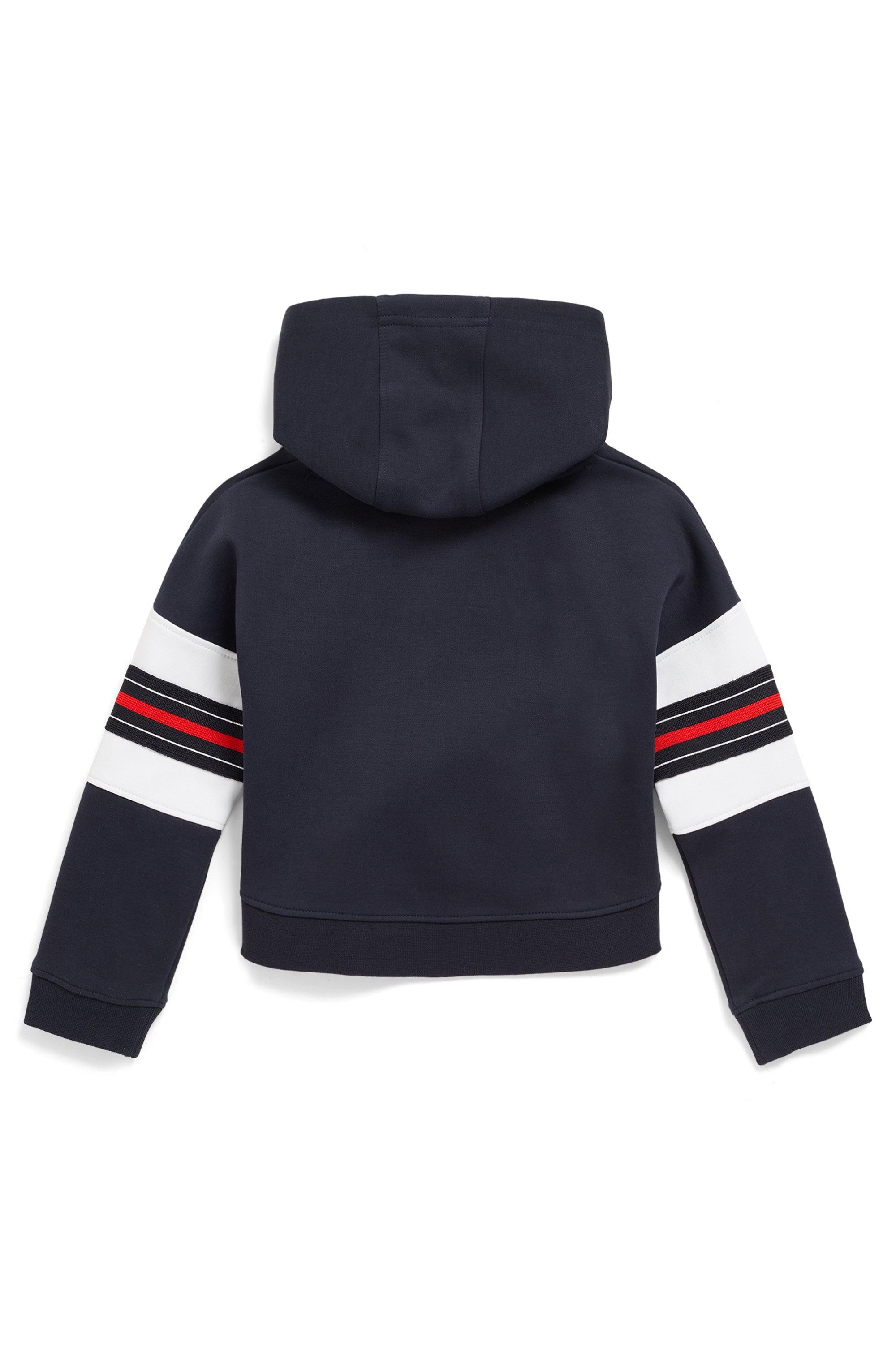 Kids-Kapuzensweatshirt mit Logo und Streifen