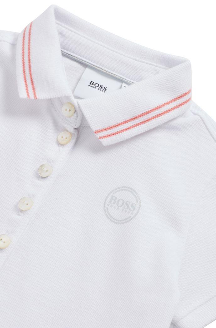 Kids-Poloshirt aus Stretch-Baumwolle mit changierendem Logo