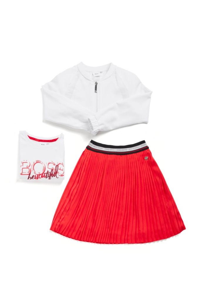 Veste zippée pour enfant en tissu stretch