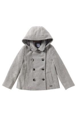 Manteau en laine mélangée: «J16112», Gris
