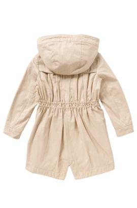 Fitted kids' coat in cotton blend: 'J16127', Light Beige