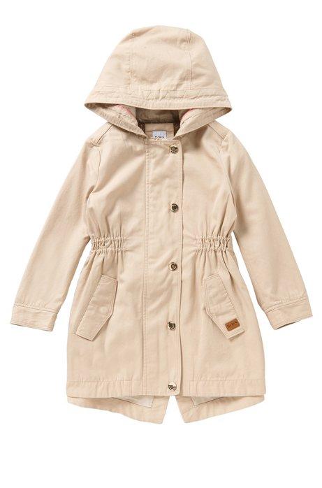 Manteau pour enfant cintré en coton mélangé: «J16127», Beige clair