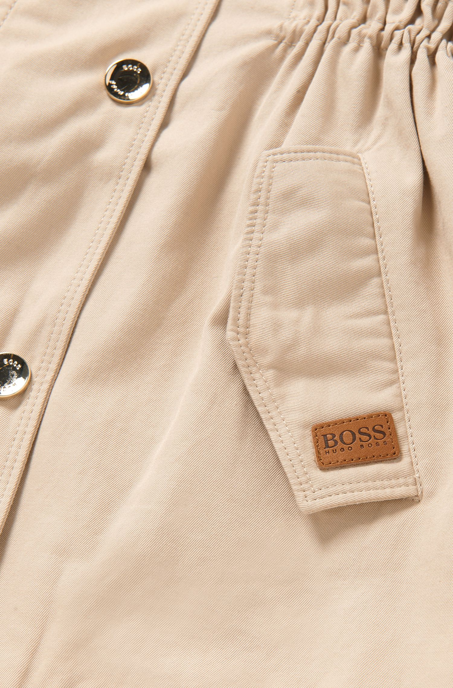 Fitted kids' coat in cotton blend: 'J16127'