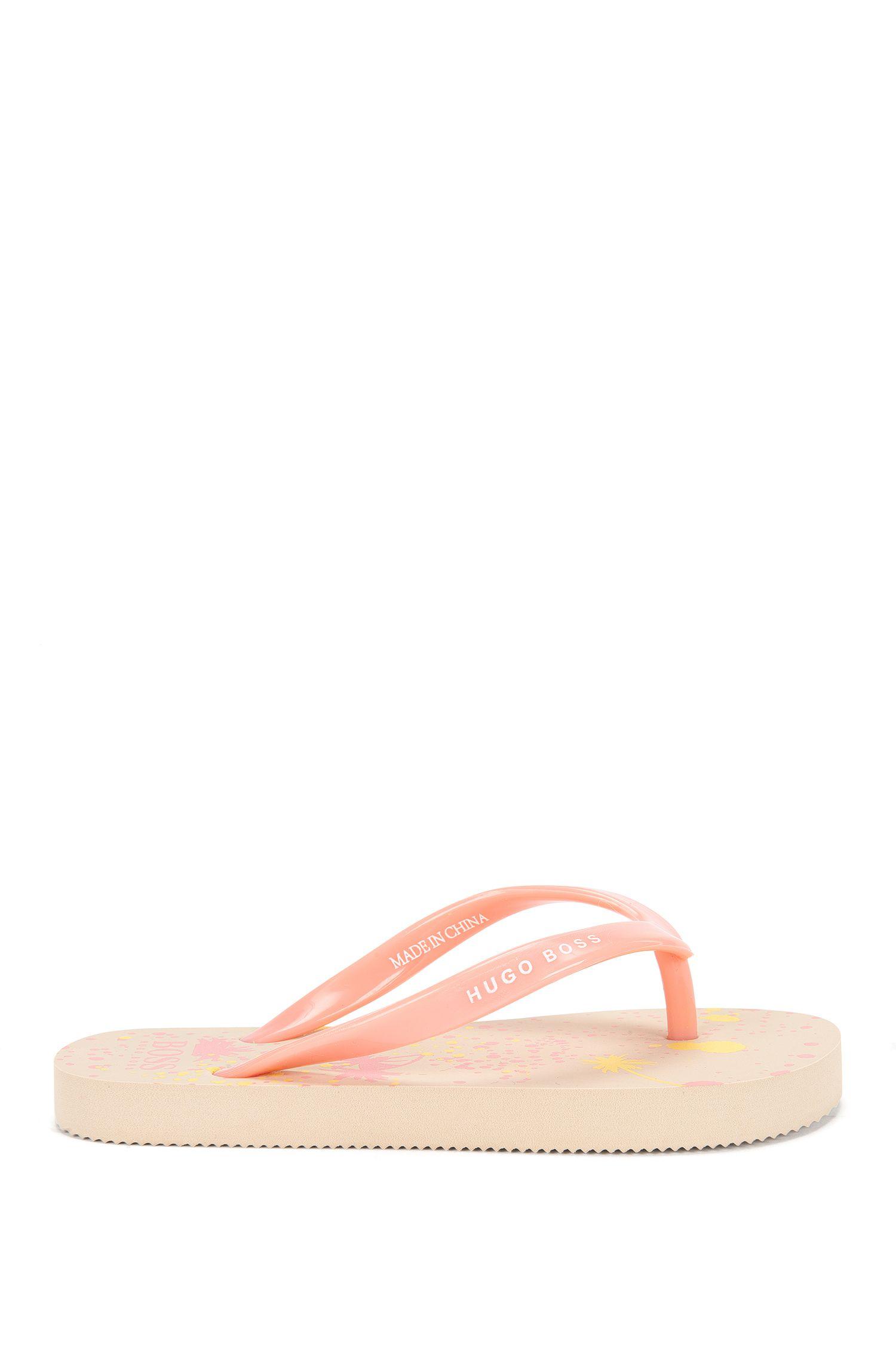 Tongs pour enfant à motif palmiers imprimé: «J19035»