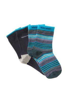 2paires de chaussettes pour enfant «J20145» en coton mélangé, Fantaisie