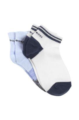 Lot de 2paires de chaussettes «J20157» en coton mélangé, Bleu vif