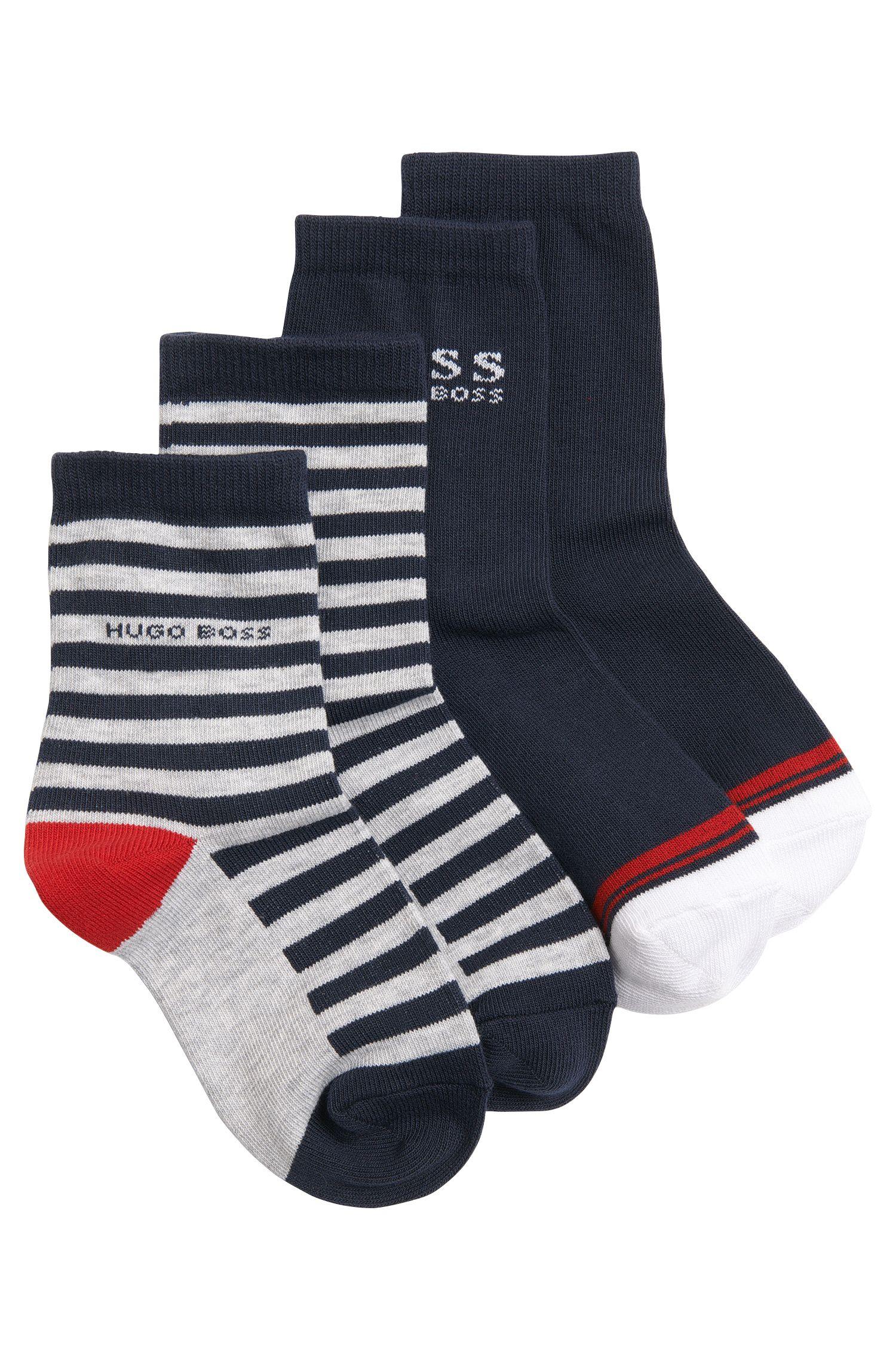 Paquete de 2 pares de calcetines para niños en mezcla de algodón: 'J20183'