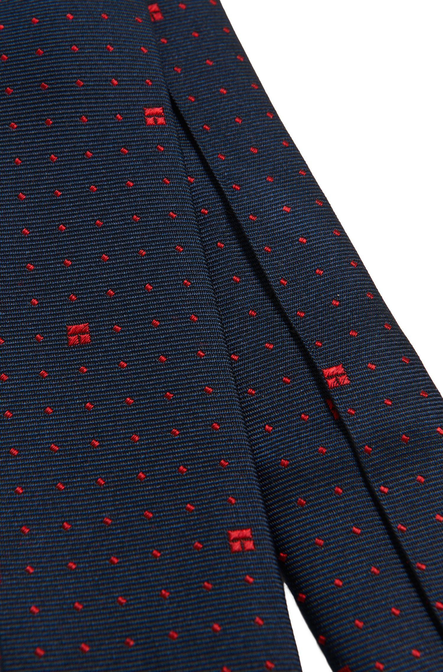 Gemusterte Kids-Krawatte aus Seide: 'J20189', Gemustert