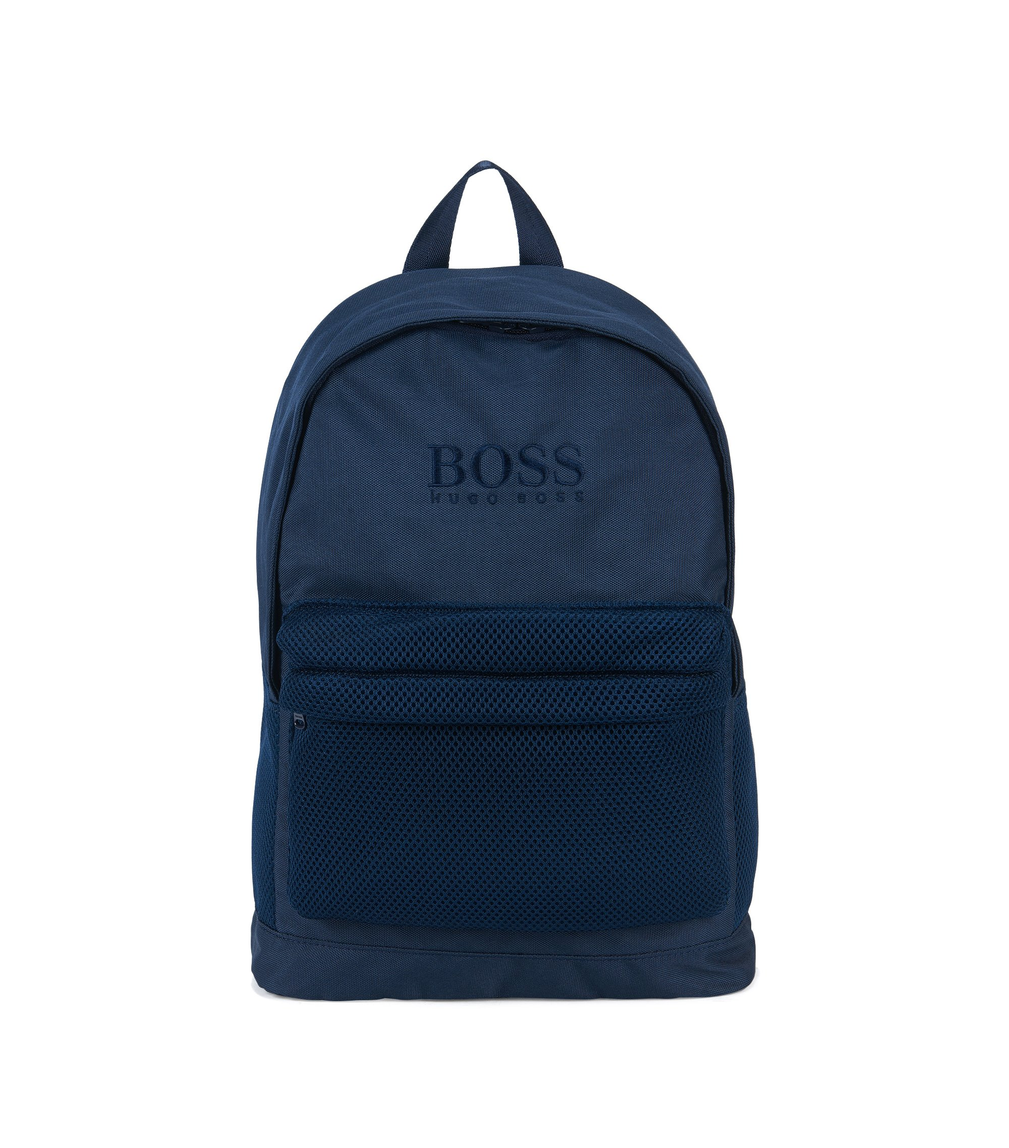 Kids' rucksack in material blend with perforated sections, Dark Blue