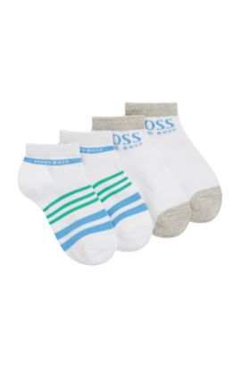Kids' socks in stretch cotton blend in a double pack: 'J20210', White