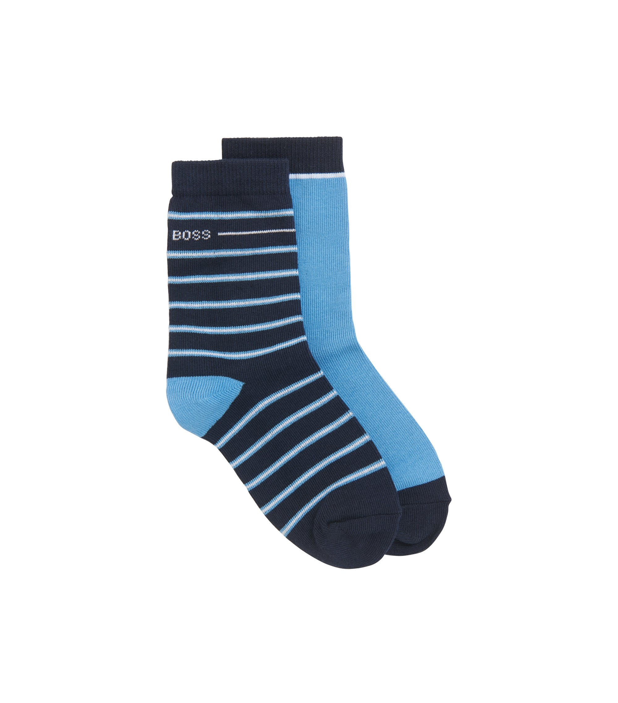 Kids' socks in a stretch-cotton blend, Patterned