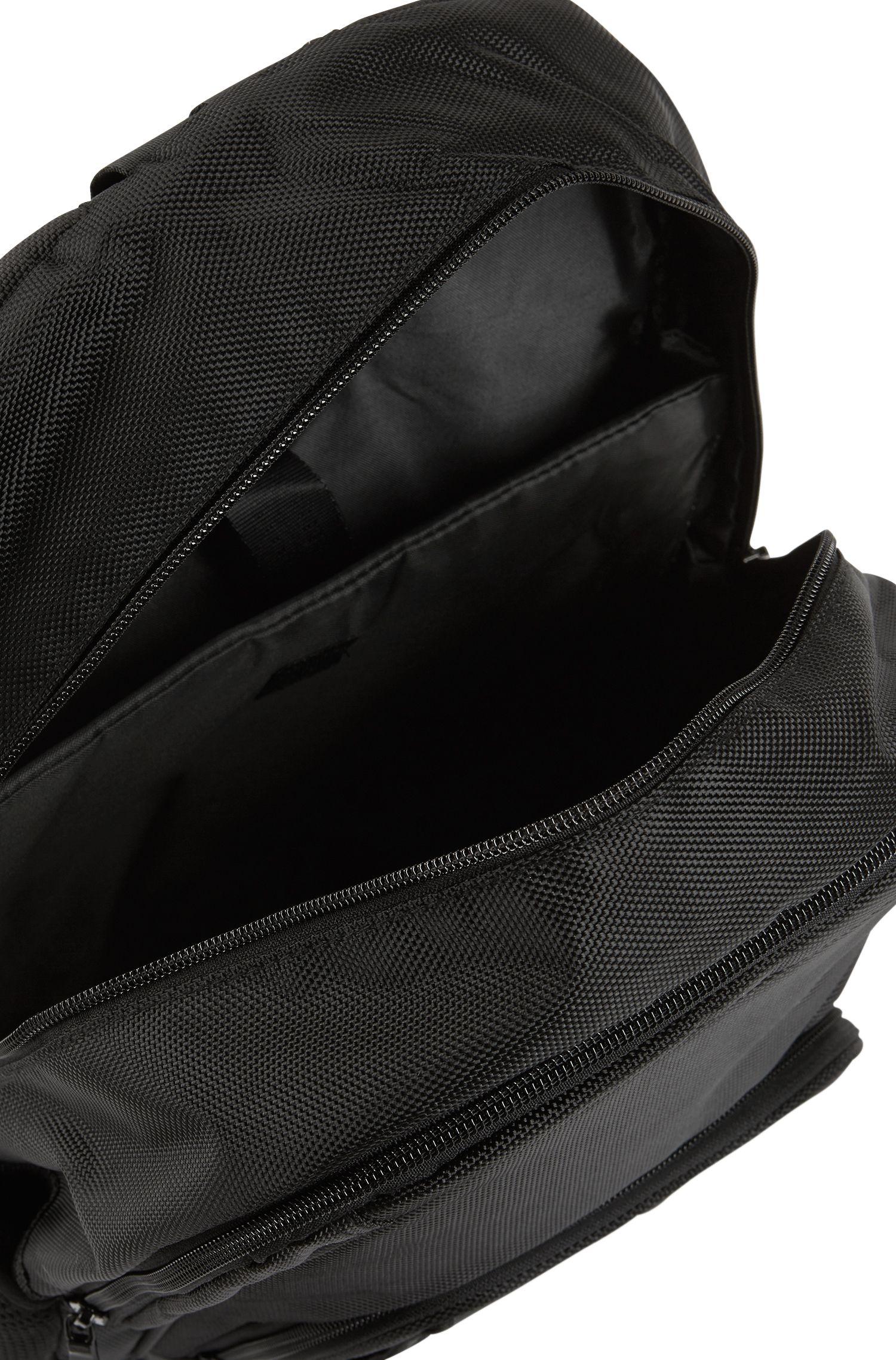 Kids-Rucksack aus beschichtetem Nylon mit Print, Schwarz