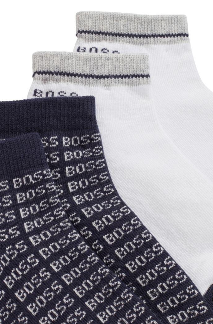 Lot de deux paires de chaussettes basses pour enfant avec logos